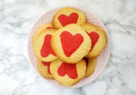 Walentynkowe kruche ciasteczka